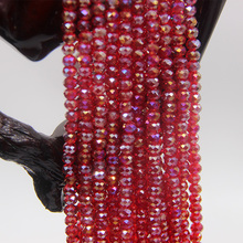 High Quality Yiwu Rondelle Faceted Glass Seed Bead Beads