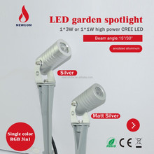 DC24V 1*3w rgb spike led garden lights outdoor IP67