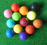 Factory hot sale assorted color mini golf balls