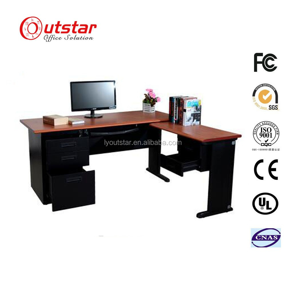 Morden Design KD Metal Office Executive Work Table Center Computer Desk with MDF Top