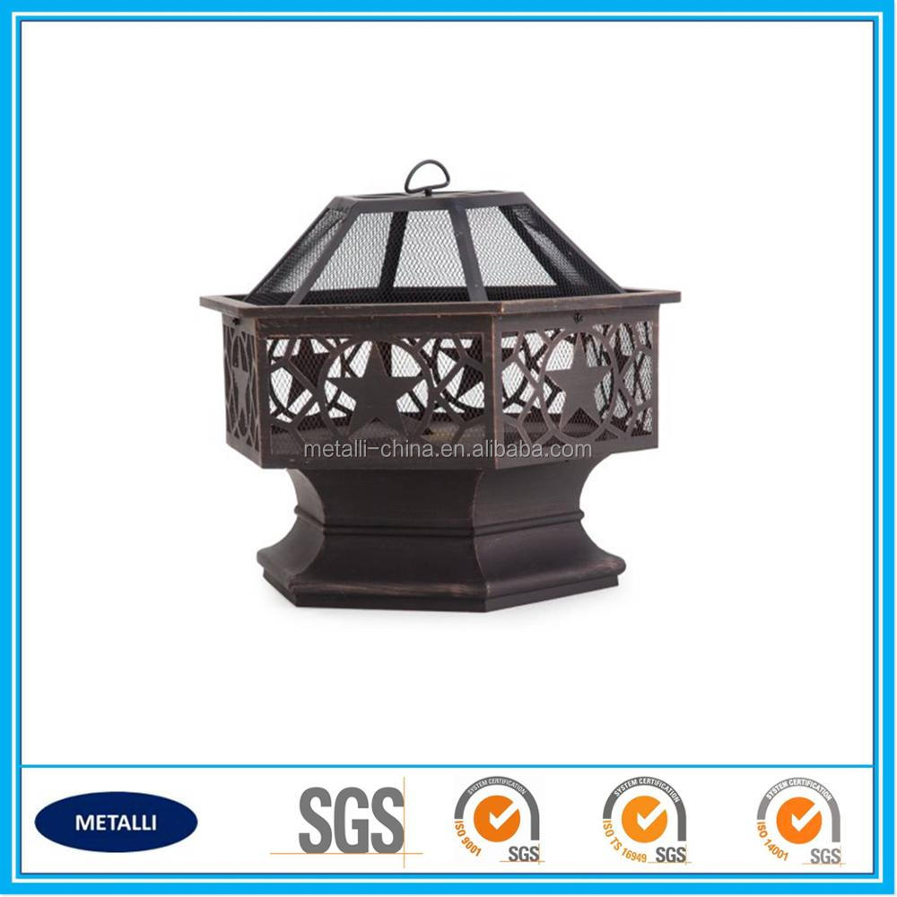 ultra quality hex steel antique fire pit