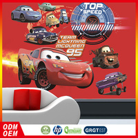 top speed cars cartoon paper mural child 3d wall murals for kids room
