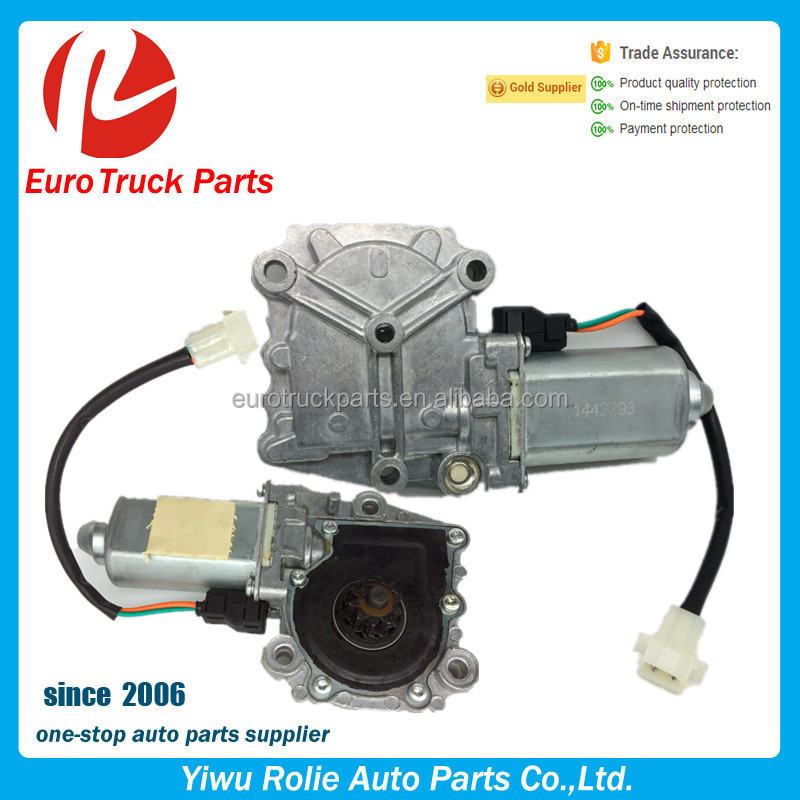 RH 1442293 LH 1442292 High quality heavy duty truck window regulator truck Right Aluminum Window lifter motor for scania