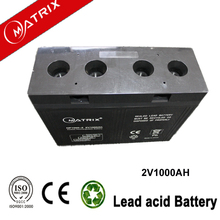 gel deep cycle sealed lead acid battery 2v1000ah for power station