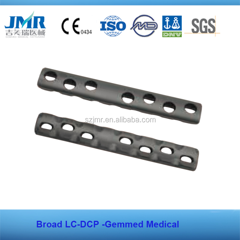 Surgical trauma Medical titanium bone plate screwsLC-DCP Plate Broad bone surgery plate screws