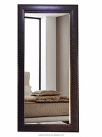 wooden framed Large size interior decorative wall mirrors bathroom