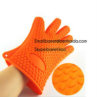 Delicate design kitchen silicone oven glove with fingers