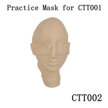 Rubber Skin Practice Mask For Permanent Makeup Practice Head Model With Eye Closed