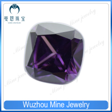 Top Quality Fertilizer square purple CZ cubic zirconia gemstone on sale
