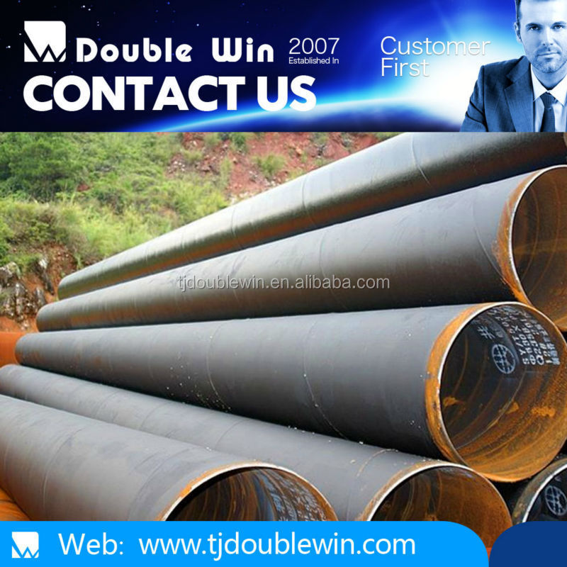 Anticorrosion large diameter spiral steel pipe for construction materials