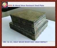 higher hardness duel metal wear steel plate with high abrasion high impact