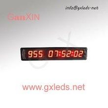 Indoor red high brightness alibaba express digital alarm led number clock