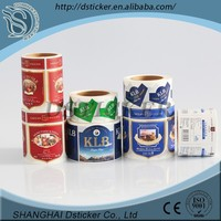 Silk/relief/intaglio printing dot sticker clear,clear epoxy stickers,food label printing factory price