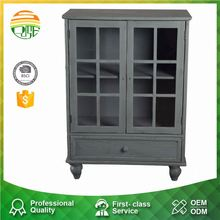 Customized Wood Antique Grey Cabinet
