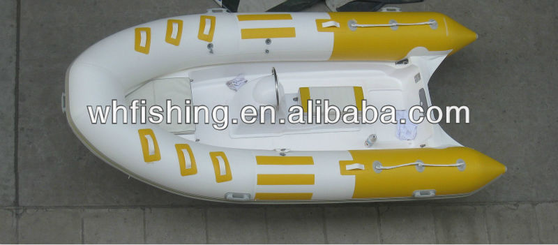 deep V FRP hull with PVC tube UV-resistance with CE approved