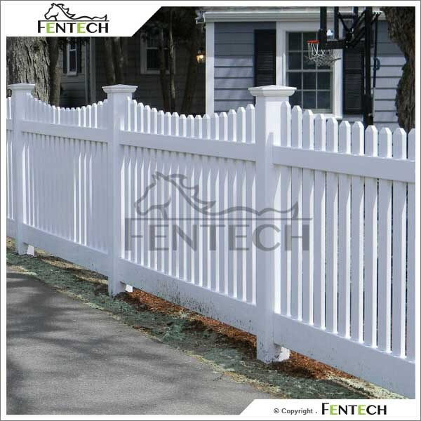 2014 best selling Hot sale cheap Plastic/Vinyl/Pvc white picket fence