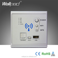 New Design Wallpad Silver Wall Mount Lan Rj45 3G WiFi Smart Socket WPS AP Router Repeater Phone USB Wireless Wall Charger Socket
