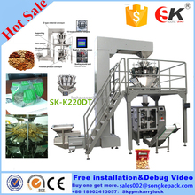 Hazelnuts automatic vertical packing machine,snacks automatic form fill seal machinery