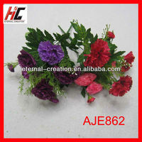 Indian yiwu agents artificial marigolds wholesales artificial purple flowers