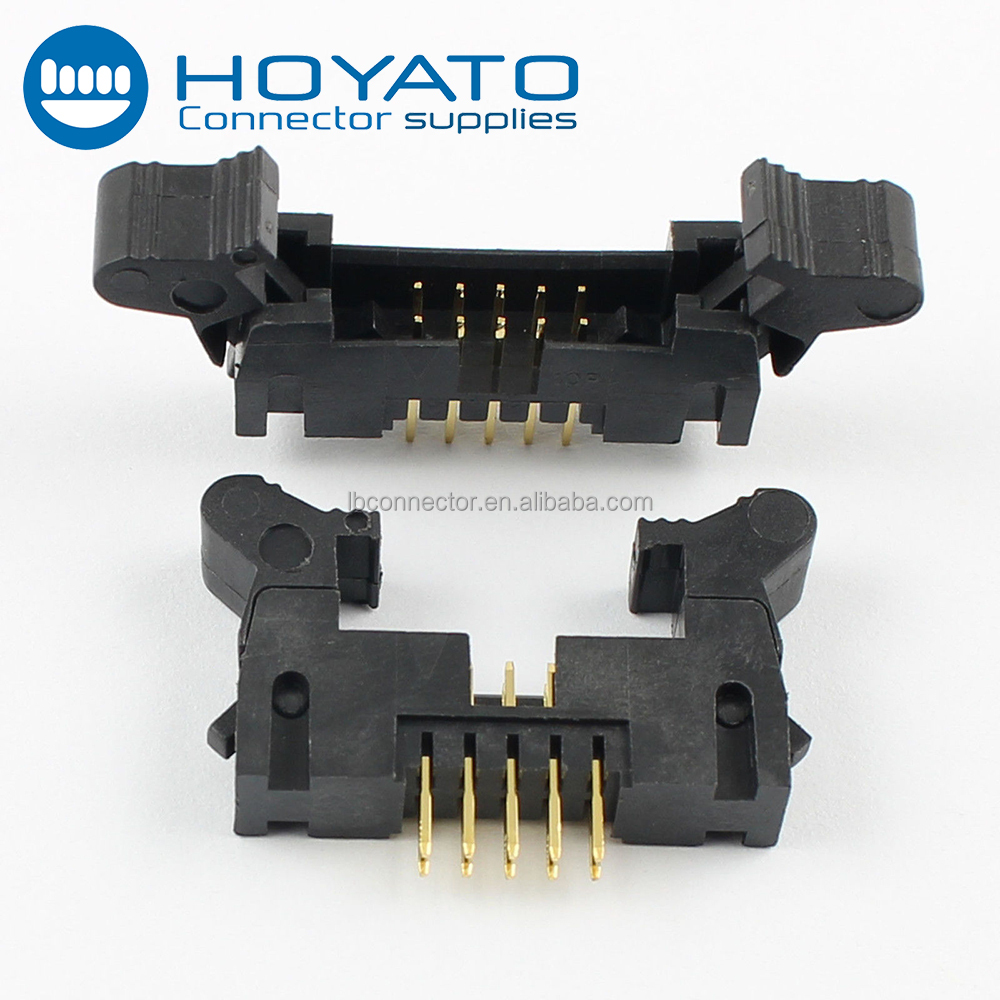 2mm pitch box ejector shrouded header idc 10 pin b2b connector manufacturer made in China