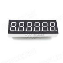 0.36 inch 7 segment 6 digit led numeric display
