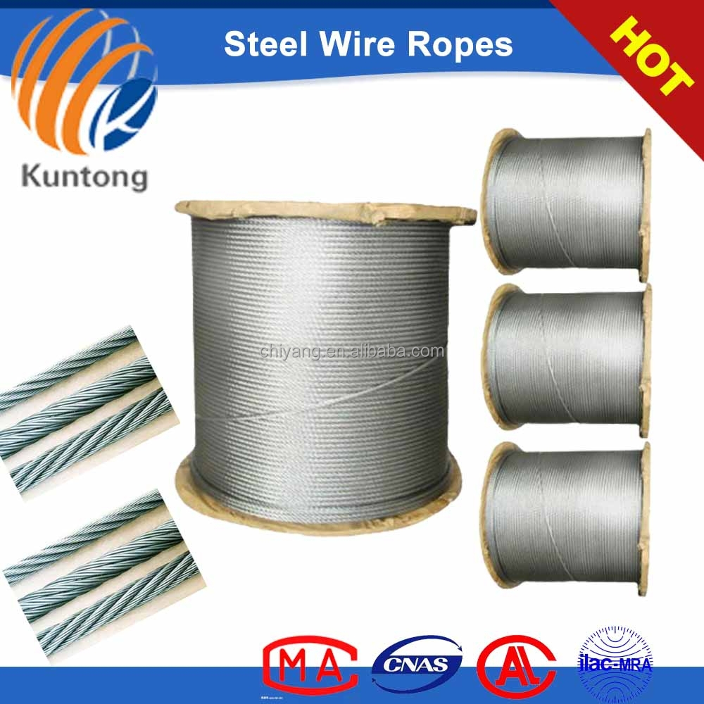 8*19s galvanized steel wire rope 10mm