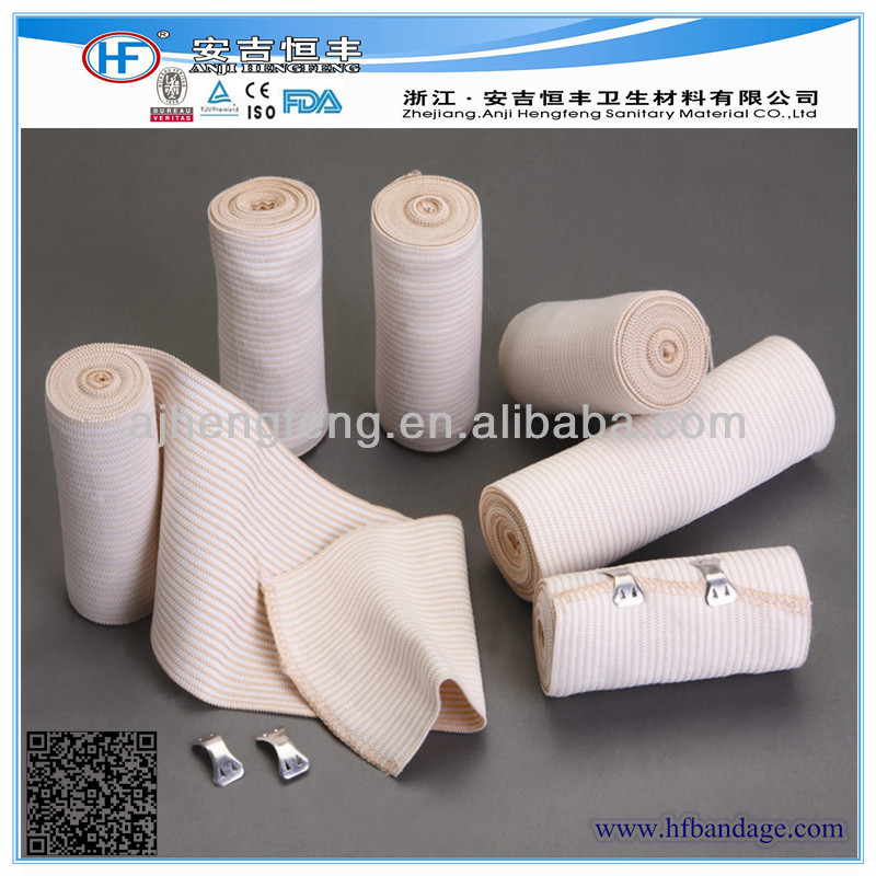 Health And Medical Pink Polyester High Elastic Bandage With ISO CE FDA Approval