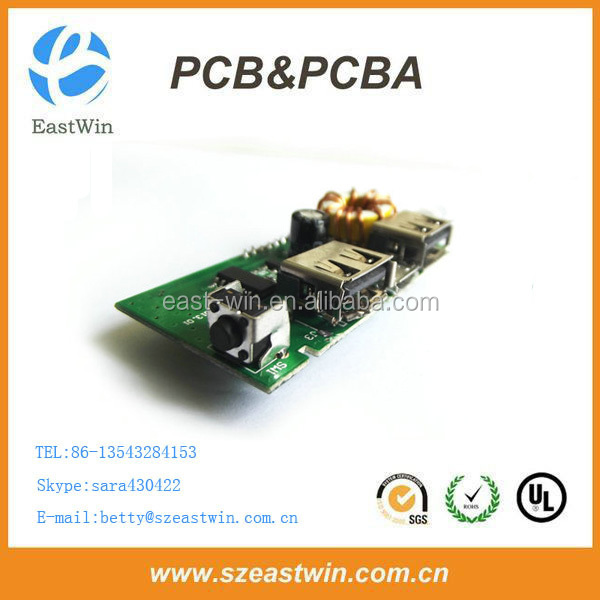 Portable Power Bank Printed Circuit Board PCB Assembly Solar Power Bank PCBA Circuit Board with DIP BGA PCB