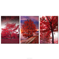 Red Tree Photo Prints Group Canvas Wall Art Framed Canvas Painting for Living Room Office Decoration Wholesale Quality Goods