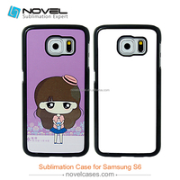 Hot selling sublimation plastic cover for samsung s6,2D PC case