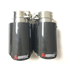 Well Designed black stainless and carbon fiber motorbike exhaust pipe