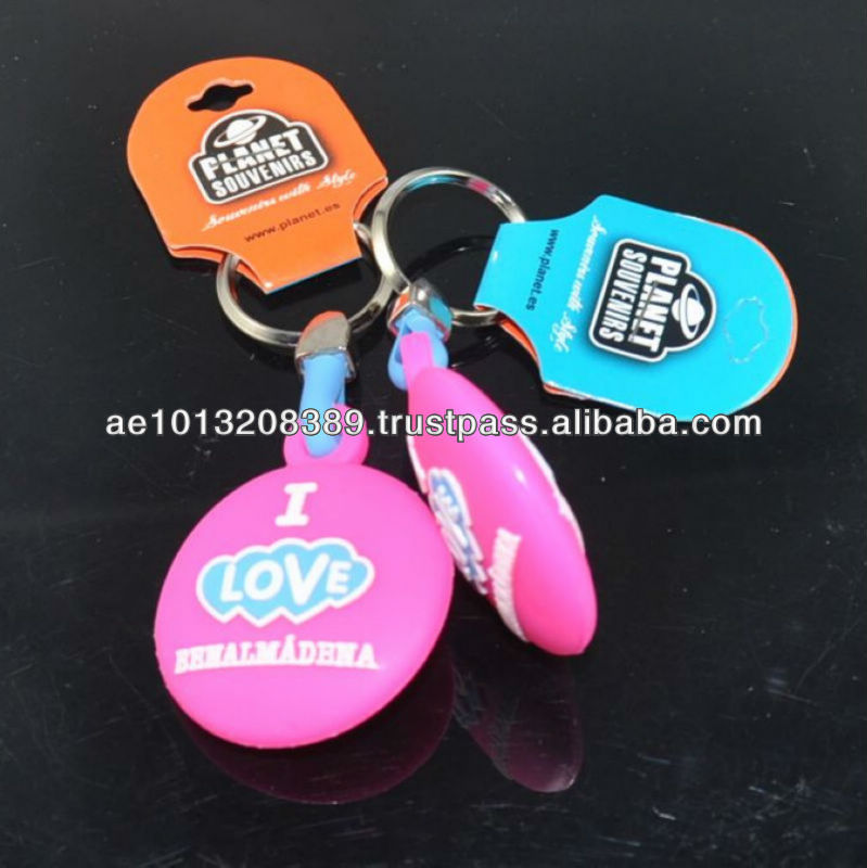 Eco-friendly-pvc rubber keychain for promotion gifts