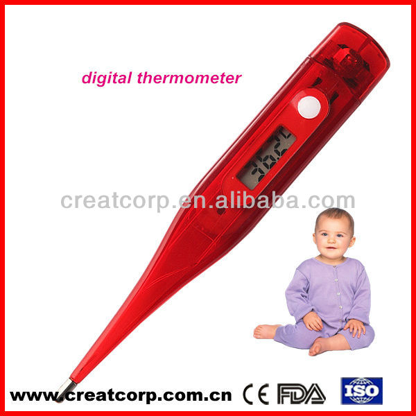 FDA certificate mercury free recording metal children's axillary use thermometer(DT-311)