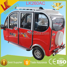 full closed electric tricycle /e-rickshaw for passenger tricycle for carrying passengers