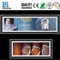 hot sale ultrathin A4 crystal picture/photo/poster led advertising light box display frame
