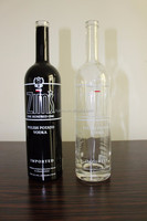 VODKA 750ML EXCELLENT GLASS BOTTLE FOR SWEET LIQUEUR WITH HANDLE