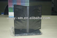 14mm black machine packing dvd case for two disc/machine dvd box