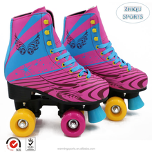 Factory professional manufacture wings pattern durable 4 quad wheels children roller quad skates shoes