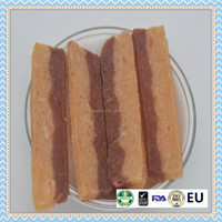 Duck and chicken square slice dog food