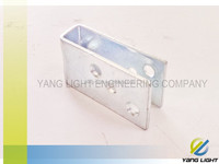 Taiwan Manufacturer Made OEM Carbon Steel Stamping plated U Shaped wall mount bracket