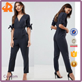 custom make v neck girl work jumpsuit,new design jumpsuits rompers for women
