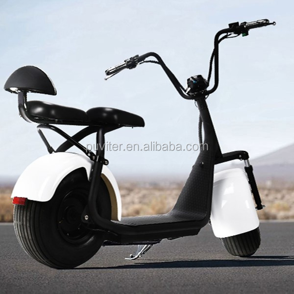 2017 motorcycle 1000W Electric Scooter Two Wheels Big Tire Citycoco Much Safer