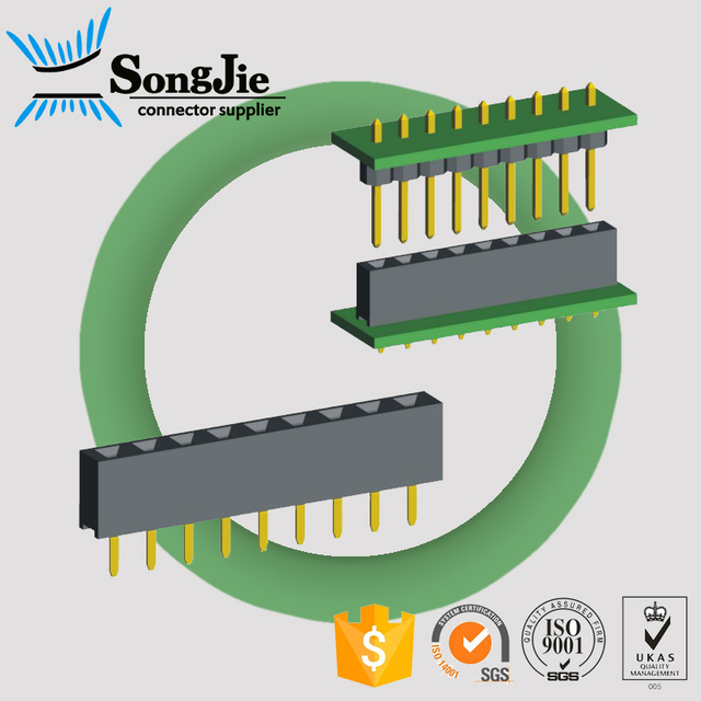 2.54mm pitch 5.0mm height bottom entry female header 3 pin connector