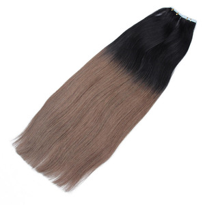 Wholesale Virgin Brazilian hair unprocessed Ombre color tape in human hair extensions
