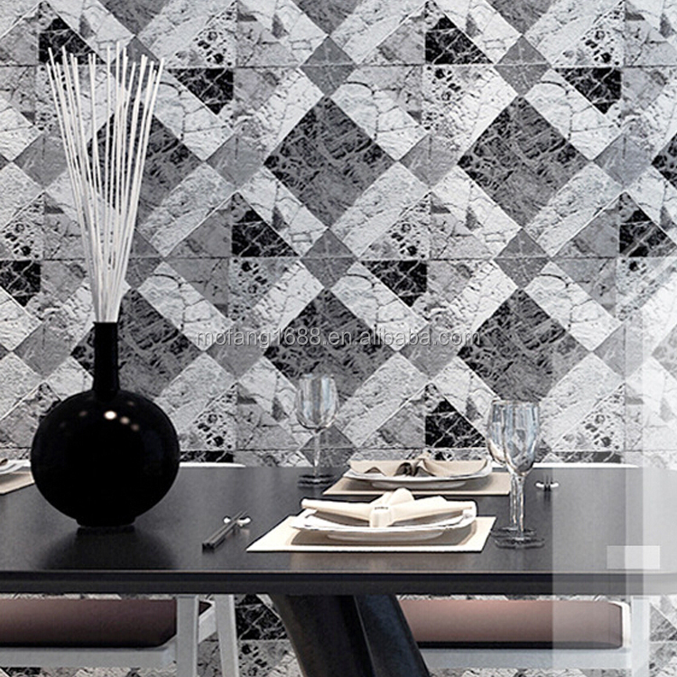 Modern art and nature stone 3d wallpaper for office and house