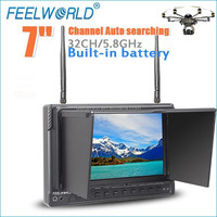 "FEELWORLD No blue screen 7"" FPV lcd monitor video drones with hdmi portable dvr"