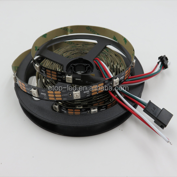 Built-in IC 30/60/74/144 leds/m smd epistar 5050 digital rgb 5v led strip ws2812b