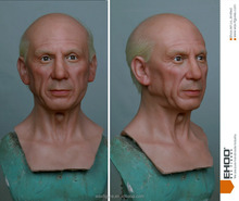 realistic famous artist pablo picasso wax statues