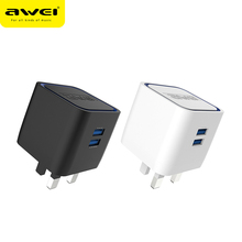 Awei C-950 UK Custom Portable Wholesale Cell Phone Dual USB Charger