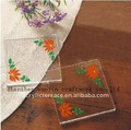 High Transparent Acrylic cup mats/coasters